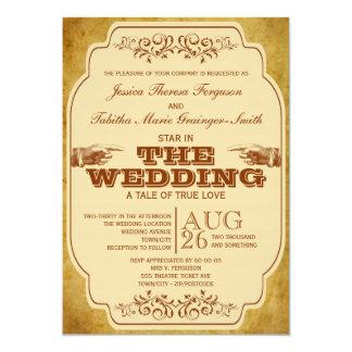 Vintage lesbische Hochzeits-Theater-Produktion 12,7 X 17,8 Cm Einladungskarte