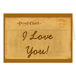 Vintage Liebe der Postkarten-I Sie! Gruß-Karte Karte
