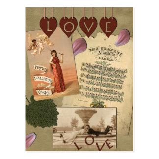 Vintage Liebe-Postkarte