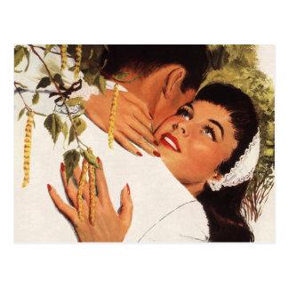 Vintage Liebe Romance, Paar in einer liebevollen Postkarten