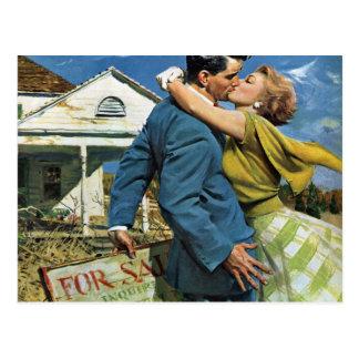 Vintage Liebe und Romance, Adressenänderung Postkarte