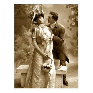 Vintage Liebhaber der Fotografie 2 Postkarte