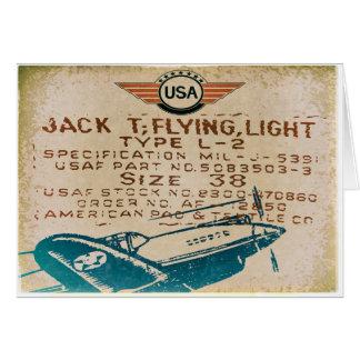 Vintage Luftfahrt-Gruß-Karten Karte