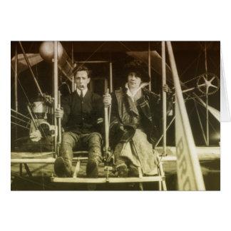 Vintage Luftfahrt Grußkarte