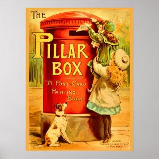Vintage Mädchen-rote Poster