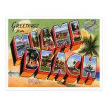 Vintage Miami- Beachpostkarte