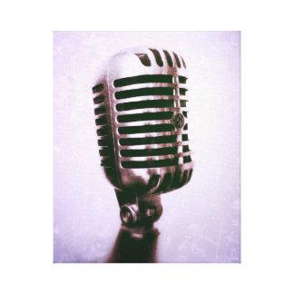 Vintage Mikrofon Leinwand