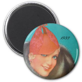 Vintage Mode 1933 Runder Magnet 5,1 Cm