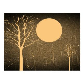 Vintage Mondnachtpostkarten Postkarten