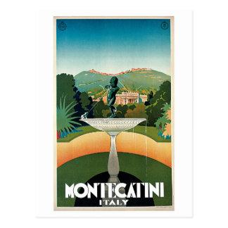 Vintage Montecatini italienische Reiseanzeige Postkarte