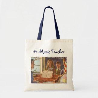 Vintage Musik-Lehrer-unterrichtende Studenten zum Tragetasche