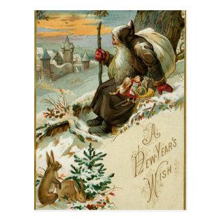 Vintage neue Jahre Sankt Postkarte