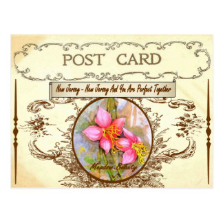 Vintage New-Jersey Staats-Blumen-Postkarte Postkarte