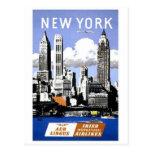 Vintage New- York Cityreise Postkarte