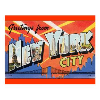 Vintage New- Yorkpostkarte Postkarte