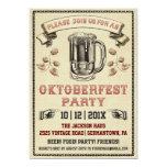 Vintage Oktoberfest Party Einladung