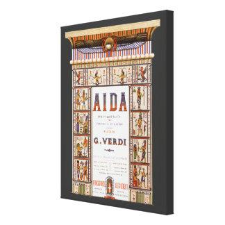 Vintage Opern-Musik, Ägypter Aida durch Verdi Gespannte Galerie Drucke