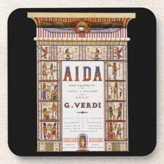 Vintage Opern-Musik, Ägypter Aida durch Verdi Getränkeuntersetzer