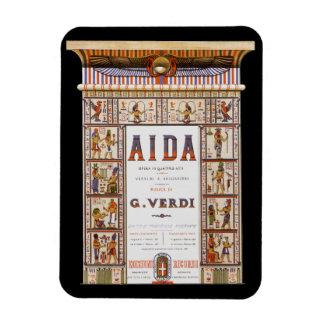 Vintage Opern-Musik, Ägypter Aida durch Verdi Magnet