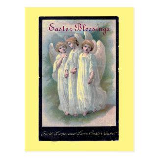 Vintage Ostern-Segen-Engel Postkarte