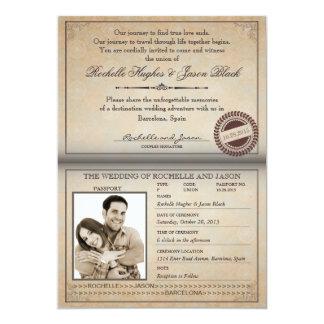 Vintage Pass-Einladung 12,7 X 17,8 Cm Einladungskarte