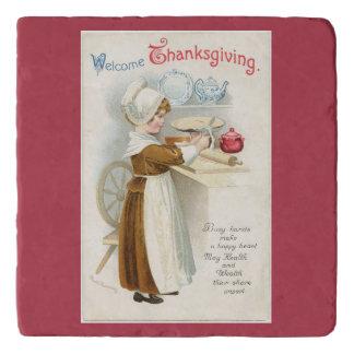 Vintage Pilger-Dame Cooking Töpfeuntersetzer