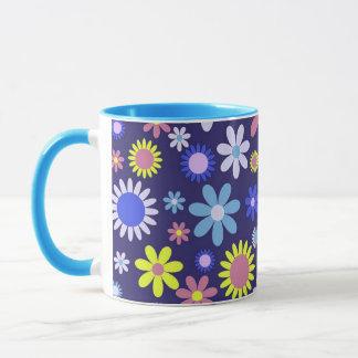 Vintage Pop-Kunst-Art-Blumenmuster Tasse