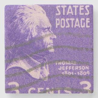 Vintage Porto-Briefmarke Präsidenten-Thomas Steinuntersetzer