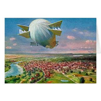 Vintage Postkarte 1908 des Zeppelin-LZ3 wieder Grußkarte