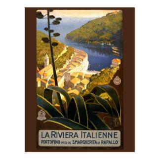 Vintage Postkarte Italiener-Rivieras Italien