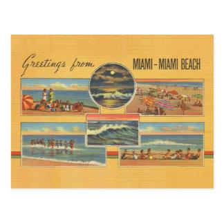 Vintage Postkarte Miami Beach Florida