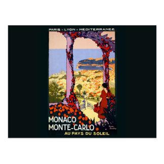 Vintage Postkarte Monacos Monte Carlo