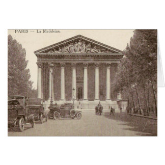 Vintage Postkarte von La Madeleine Paris Grußkarte