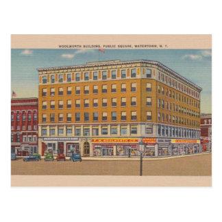 Vintage Postkarte Woolworth Gebäude-Watertowns NY