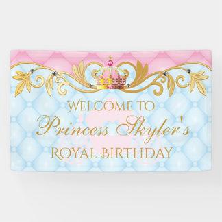 Vintage Prinzessin, Gold und rosa Banner