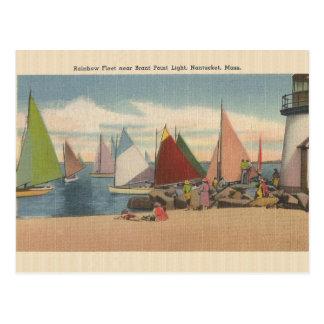 Vintage Punkt-Licht-Postkarte Nantucket Mass. Postkarte