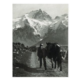 Vintage Region der Schweiz Jungfrau Postkarte