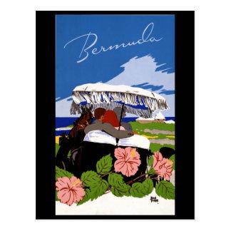 Vintage Reise-Bermuda-Vierzigerjahre Postkarte