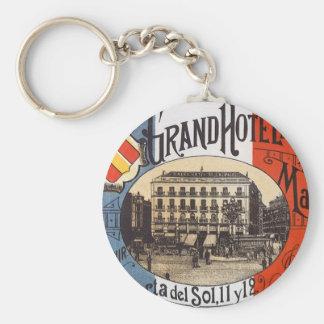 Vintage Reise, großartiges Hotel Paix, Madrid, Schlüsselanhänger