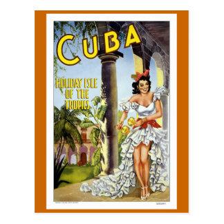Vintage Reise Kubas Postkarte