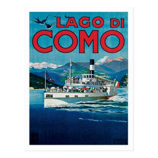 Vintage Reise Lago Di Como Italien Postkarte