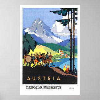 Vintage Reise, Österreich Poster
