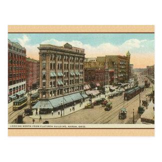 Vintage Reise-Postkarte Akrons Ohio Postkarte