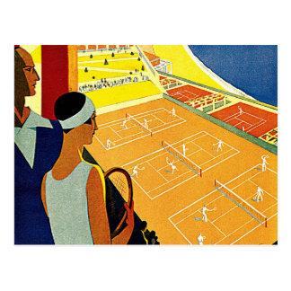 Vintage Reise, Tennis, Sport, Monte Carlo Monaco Postkarte