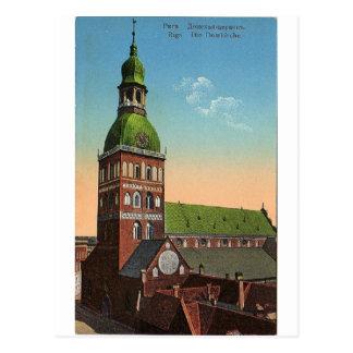 Vintage Reisepostkarte Riga-Kathedrale Postkarte