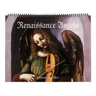 Vintage Renaissance-Engel, antike feine Kunst Kalender