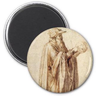 Vintage Renaissance, Philosoph durch Michelangelo Runder Magnet 5,1 Cm