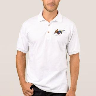 Vintage Retro amerikanischer Fußball-Spieler-alte Polo Shirt