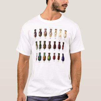 Vintage Retro Kitsch-Insekten Bettles Illustration T-Shirt