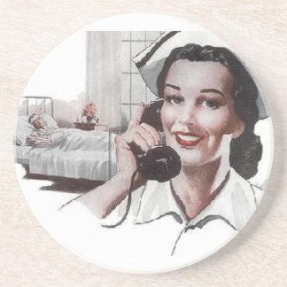 Vintage Retro Krankenhaus-Krankenschwester Untersetzer